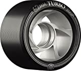 Rollerbones Turbo 101A Speed/Derby Wheels with an Aluminum Hub (Set of 8), 62mm, Black