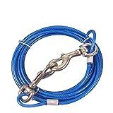 Correa de cable de acero inoxidable para perros, cable para atar...