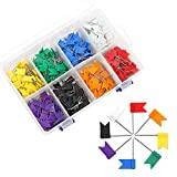 Colored Flag Map Push Pins - Coideal 400 Pack...