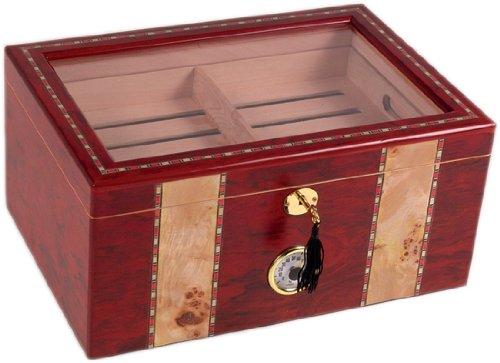 180 ct Clear TOP BURL Wood Cigar HUMIDOR