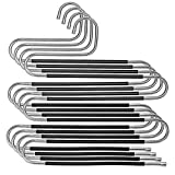 JOOPOM 4Pcs Gancio multiplo per pantaloni Appendini a forma di S in metallo antiscivolo a ...
