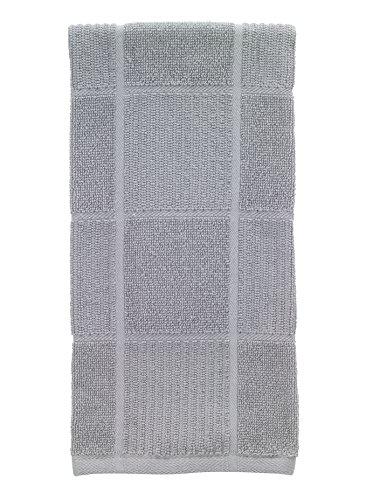 T-Fal Textiles 10954 Solid Color Parquet Design 100-Percent Cotton Kitchen Dish Towel, Gray, Single
