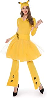 Women Costume Holiday Sexy Yellow Dress Adult Hen Party Book Week Cosplay Fancy Dresses