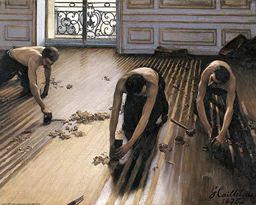 1art1 Gustave Caillebotte - Die Parkettschleifer, 1875 Poster Kunstdruck 50 x 40 cm