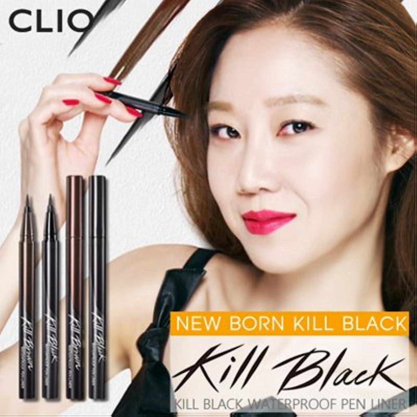 きつく男らしいディスコCLIO Waterproof Pen Liner (# Kill Black) クリオ ウォータープルーフペンライナー [並行輸入品]