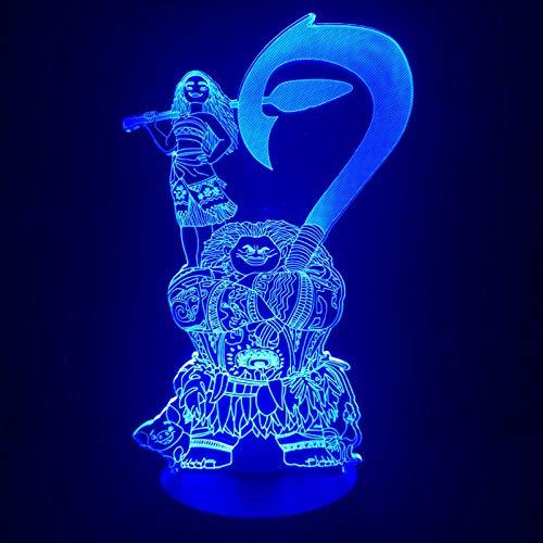 Moive Moana Maui Figur Dekorative Kinder - Lámpara USB con batería