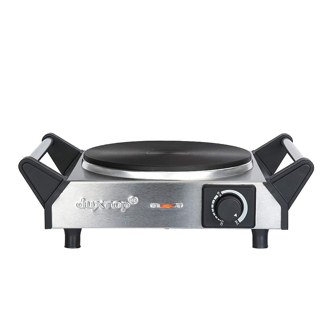 Duxtop ES-3102 1500W Portable Electric Cast Iron Cooktop Countertop Burner (Single), 7.5 inch, Silver