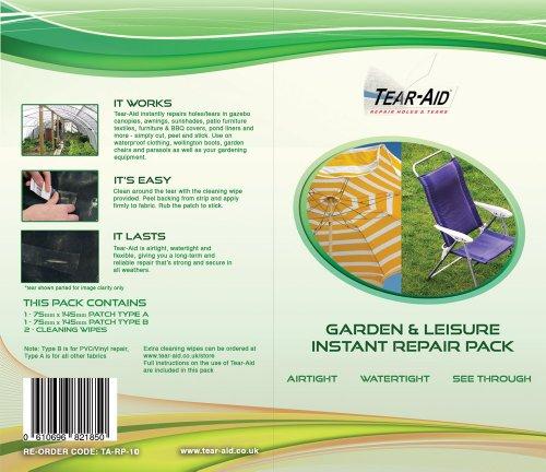 Tear Aid Tape – Jardin et équipements de Loisirs – Kit de réparation de Type A et B – Patches