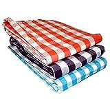 SHARABANI Hand Loom 100% Pure Cotton Bath Checks Towels 65 inches /31 inches