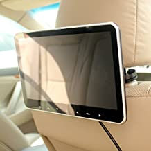 in Car Headrest Back Seat HD TFT-LCD LED 10 Inch Monitor Screen SD USB HDMI Input MP4 MP5 Media Multimedia Video Audio Player FM Transmitter Quick Install by HitCar (with 16GB USB Flash)