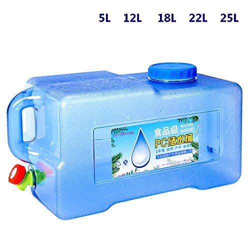 Guoda Wasserkanister  PC-Material In Lebensmittelqualität   Tragbar   Wasserhahn   Verlängerungsrohr   Mehrzweck   Blau (Size : 5L)
