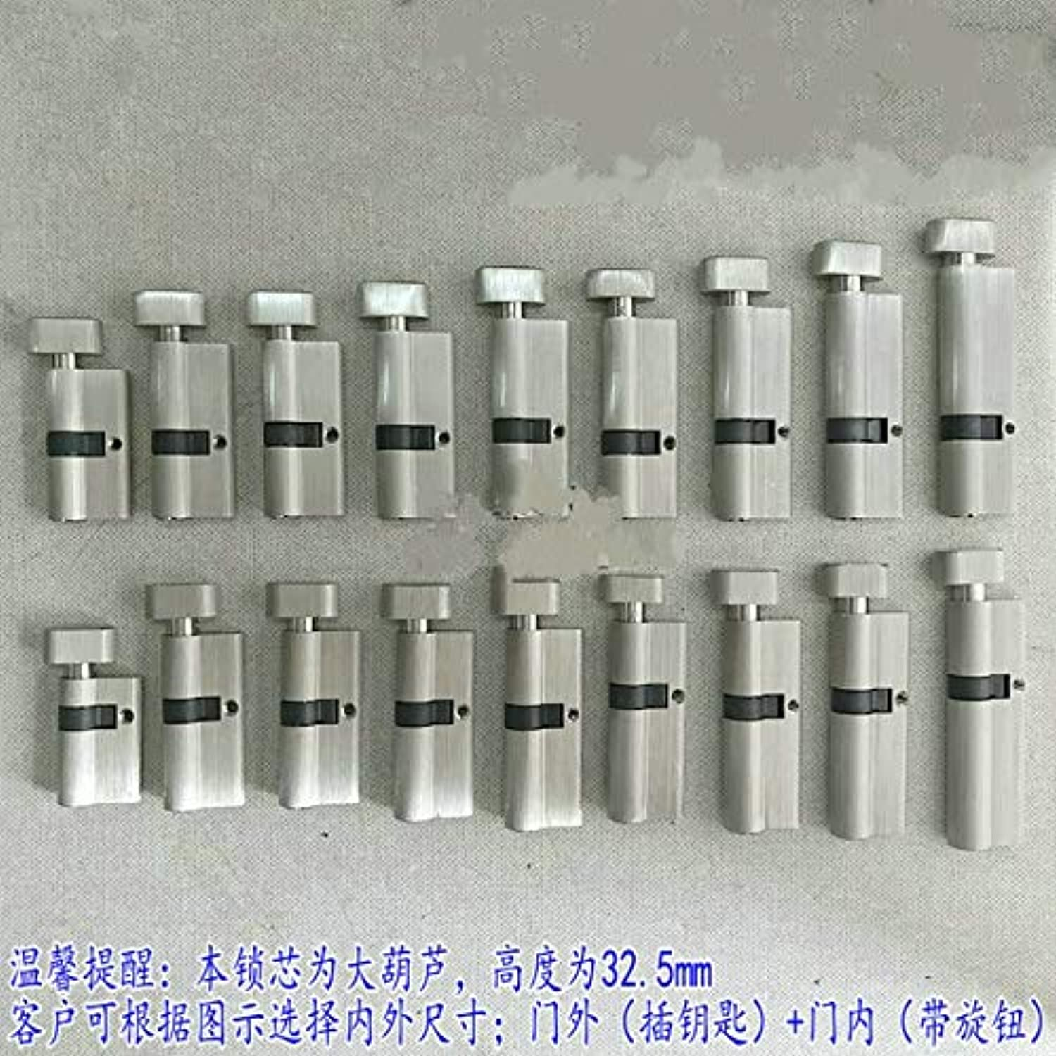 85 90 100MM Copper Core Door Locks Security Locking Cylinders for Thickness Door  (color  Out 35mmin 55mm)
