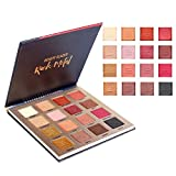 Beauty Glazed 16 Colors Eyeshadow Palette Glitter and Matte Shimmer Highly Pigmented Eyeshadow Warm Shimmer Smokey Metallic Eye Shadows Cosmetic Palette