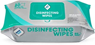 WipesPlus Disinfecting Wipes (320 Total Wipes) - 4 Packs of 80 Industrial Strength Sanitizing Wipes - 80 Disinfectant Wipe...