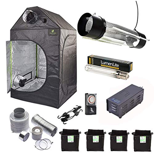 Gardeners Corner Complete Hydroponics Loft Grow Tent Kit 1x1x1.6m Air Cooled Odourless Extraction System