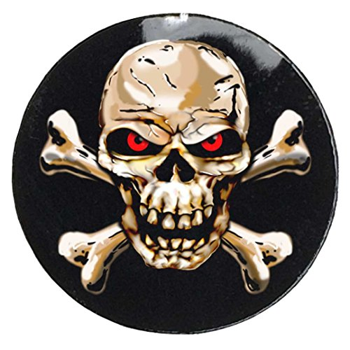 Full Color Skull and Crossbones Award Decals (100 Decals) Skull and Bones Sticker