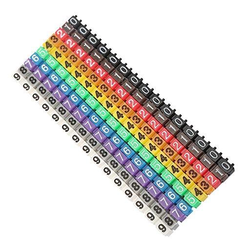 Tubo marcador de cable de mano de obra fina, Número de cable simple de plástico, Equipo(150PCS KCM-1.5MM 1.5 square)