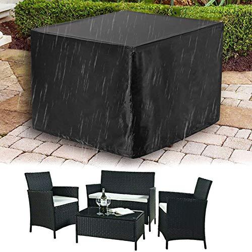 HSGAV Funda Muebles Jardín Impermeable Exterior Patio Mobiliario Refugio Funda Cubierta Muebles Jardín Patio Tela Cubierta para Mesa al Aire Libre 420D Oxford Anti-UV Negro,240 * 240 * 85cm