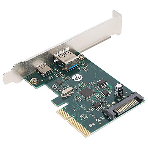 Goshyda Adaptador de expansión USB 3.1 Tarjeta Vertical, PCI-E rev2.0 Serial ATA rev3.1 Gen2 Admite Tarjetas de expansión 10G / 5G / 480/12 / 1,5 Mbps