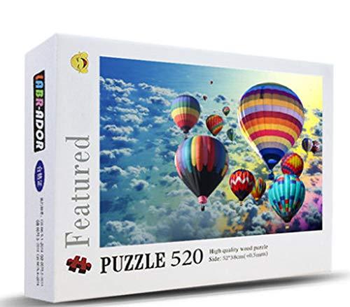 Maya Star 520 pezzi di giocattoli educativi di decompressione per bambini adulti puzzle spesso (mongolfiera)