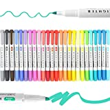 蛍光ペン-25色ダブルチップ蛍光ペンマイルドカラーフルカラーセット蛍光ペンデュアルチップ蛍光ペン各種マーカーペン