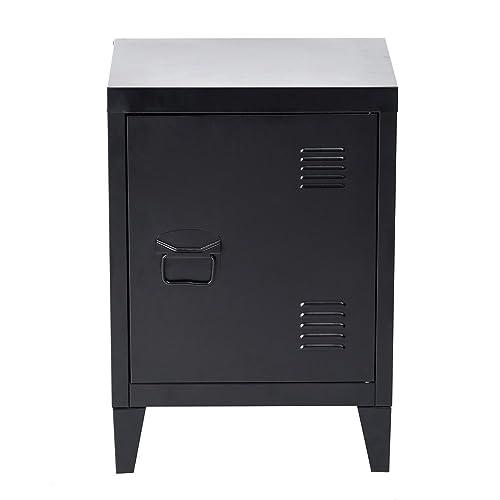 HouseinBox Low Standing Locker Organizer Side End Table Office File Storage  Metal Cabinet Cupboard Unit Detachable