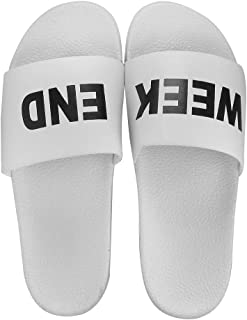 Blinder Men's White Black Latest Flip Flop Slipon Slide Slipper