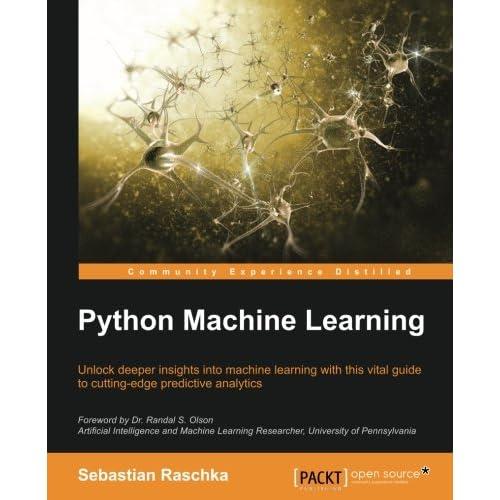 Python Machine Learning 1st Edition Sebastian Raschka