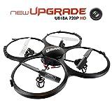 Drone con Telecamera 720P HD FPVRC UDI U818A UFO Quadricottero Drone RC 2.4G 4CH...
