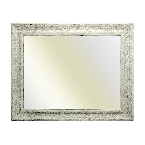 Neumann Bilderrahmen Cadre Baroque Blanc Finement décoré 843 AVO, Miroir, 61x91 cm