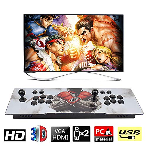 XFUNY. Arcade Game Console 2680 Retro HD Games in 1 Pandora Treasure II Street Fighter Style 2 Players Arcade Machine with Arcade Joystick for TV / Laptop / PC / PS4 / Switch (SF-A)