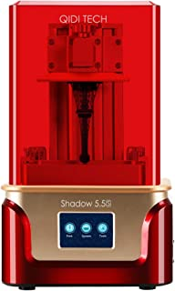 """QIDI TECH Shadow 5.5 S 3D Printer, UV LCD Resin Printer with Dual Z axis Liner Rail, 3.5 Inch Touch Screen,Build Size 4.52""""(L) X 2.55""""(W) X 5.9""""(H),Equipped with Friendly Resin"""