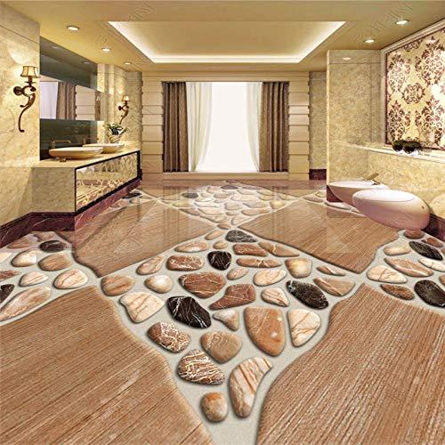 Behang voor Muren 3 D Vloeren Schilderen Natuursteen Tegels Driedimensionale Kiezels Mode Mooi Behang 250cm(L) x180cm(W)