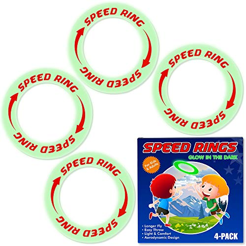URBANSTREAM Kid s Flying Rings Flying Disc, Glow in The Dark, Fly Straight Floats On The Water, Best Healthy Activities for Your Family, Party Outside and Play