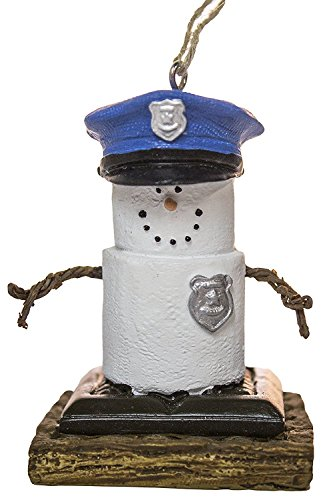 MIDWEST-CBK S'Mores Policeman Christmas/Everyday Ornament