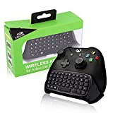 Xbox One Keyboard BestFire 2.4G Mini Wireless Chatpad Message Game Controller Keyboard with Headset Audio Jack for Microsoft Xbox One Controller Keypad Black - Easy Pairing