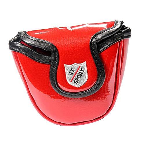 Golf Schlägerkopfhülle Mallet Putter Headcover Kopf Bedecken Putterhaube Magnetverschluss Golf Putter Headcover Golfschlägerkopfschutz Putter Schutzhülle.