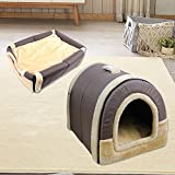 <span class='highlight'>Pet</span> Warm <span class='highlight'>House</span> - Cozy 2 In 1 <span class='highlight'>Cat</span> Portable <span class='highlight'>House</span> - Puppy Kennels <span class='highlight'>Dog</span> Caves Multifunction Bed with Removable Cushions for <span class='highlight'>Dog</span>s <span class='highlight'>Cat</span> Puppy Brown M