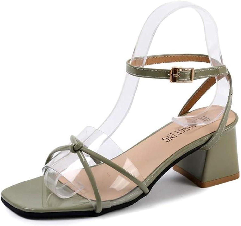 Dream-D Ladies Ankle Strap Sandal Transparent Cross Strap Open Toe Summer Sandal shoes