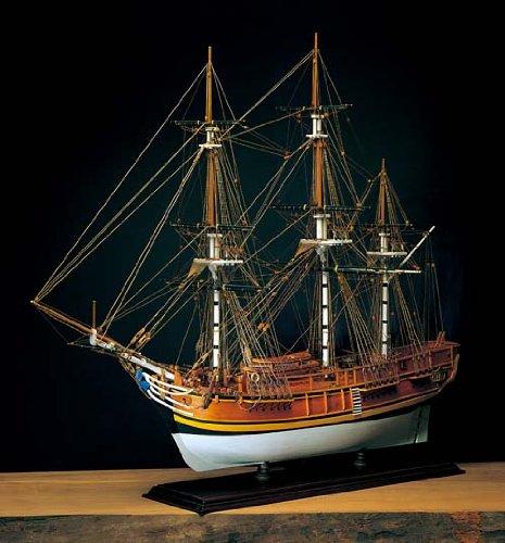 輸入木製帆船模型アマティ AM1432バウンティ 和訳付属