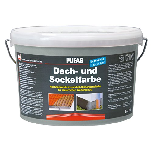 Dach- und Sockelfarbe 2,5 L, 955 Steingrau