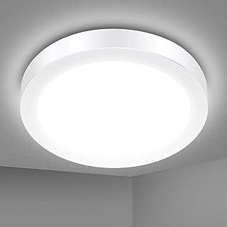 Plafonnier LED, SOLMORE Lampe Plafond 18W 1700LM Imperméable IP54 Lampe de Plafond LED Moderne Mince Rond Blanc Froid 5000...