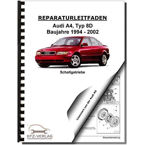 Audi A4 Typ 8D 1994-2002 6 Gang Schaltgetriebe 01E Kupplung Reparaturanleitung