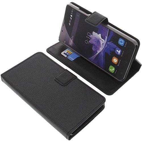 foto-kontor Tasche für Blackview P2 Lite Book Style schwarz Kreditkarte Schutz Hülle Buch