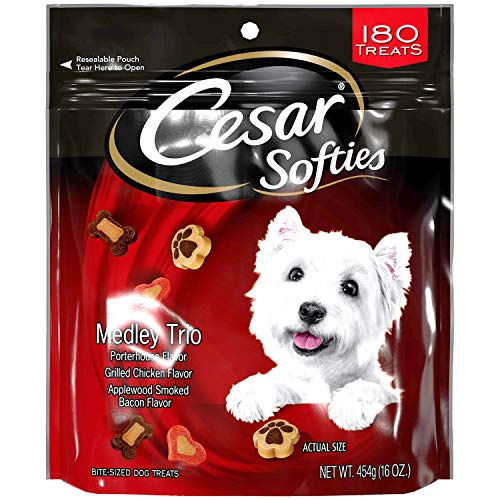 Cesar Softies Chewy, Small Dog Treats Medley Trio, 16 Oz Pouch