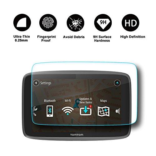 RUIYA Displayschutzfolie Schutzfolie für TomTom GO 620 6200 6250 GPS Navigationssystem, unsichtbare und transparente Folie, Crystal Clear HD Displayschutz, Anti-Kratz【6 Zoll】