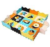MQIAOHAM Tapis de Jeu en Mousse avec Bordure Kids Multi-Color Safe Terrain de Jeu pour bébé Protection de Sol en Caoutchouc Souple Tuiles en Mousse EVA de Haute qualité Non Toxique P009B3010