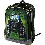 John Deere Boys' Child Tractor Backpack, Black