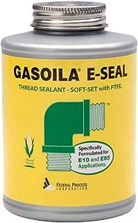Gasoila E-Seal Pipe Thread Sealant with PTFE Paste, Non Toxic, -100 to 600 Degree F, 1/4 Pint Brush