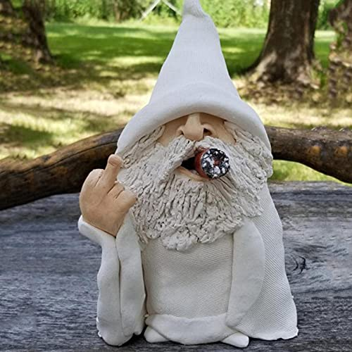 Briesly Garden Gnome Wizard Statues Big Tongue - Naughty Garden Lawn Decoration Dwarf Sculpture for Indoor Or Outdoor Decoration Statue